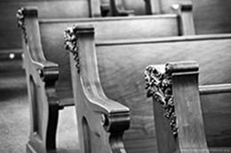 Image of church pews